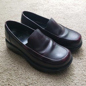 DANSKO Meredith Leather Platform Loafer Burgundy